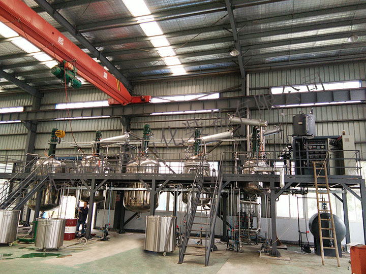 Complete sets of coating equipment on site